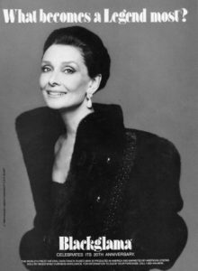 Audry Hepburn vintage ad
