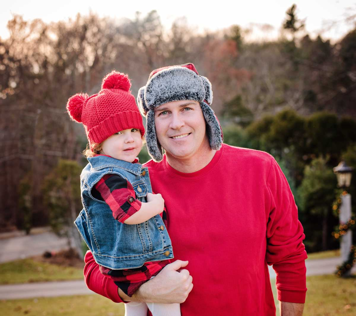 winter portrait dad and daughter family photography Boston Needham