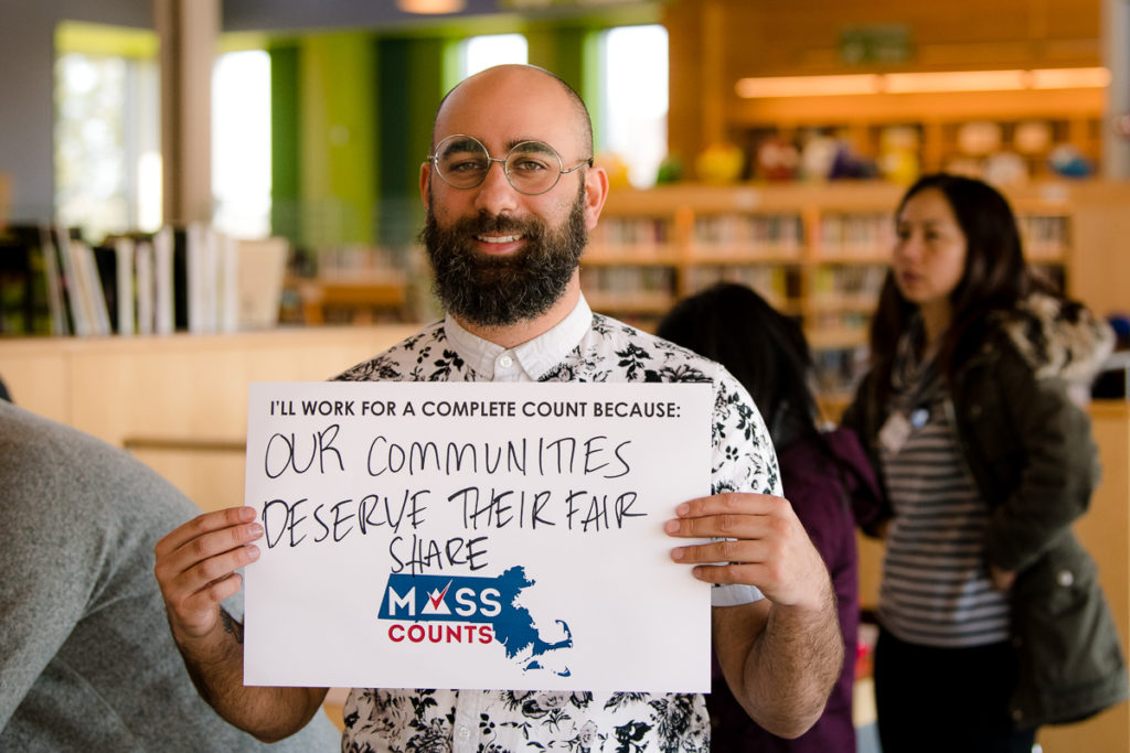 Event photography, immigrant advocacy, census, #masscounts, East Boston Library