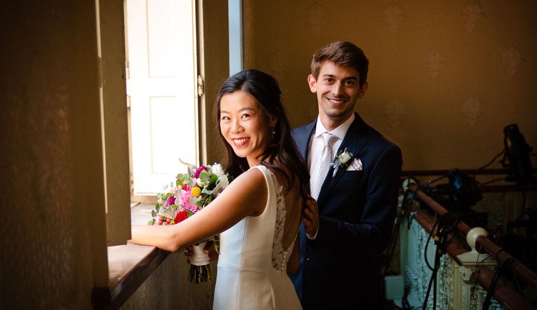 wedding, Boston, Cambridge, Multicultural Arts Center, natural light portrait